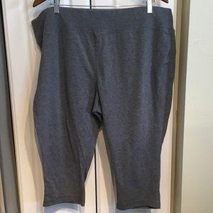 Danskin Now Gray Crop Leggings Size 3X